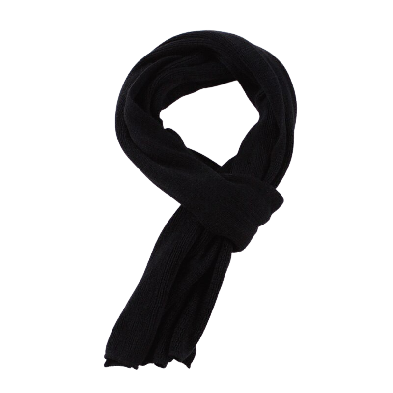 Elegant Knitted Scarf In Black