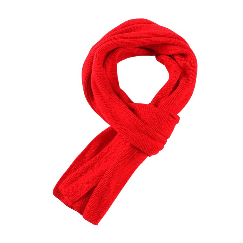 Elegant Knitted Scarf In Red
