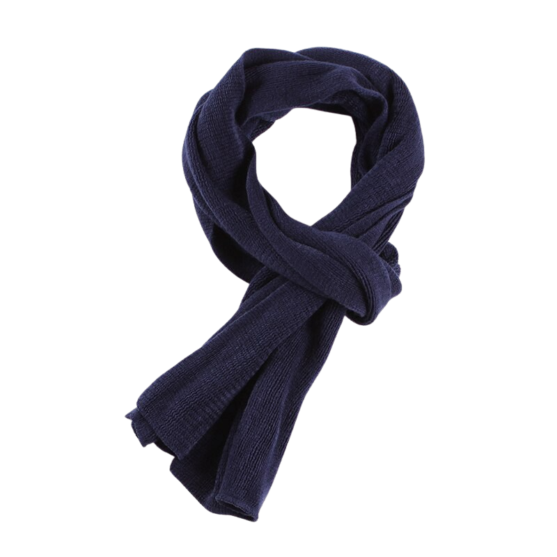 Elegant Knitted Scarf In Blue