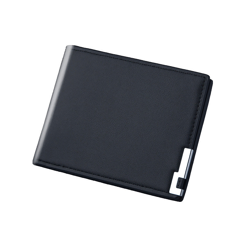 Ultra Thin Leather Wallet In Black