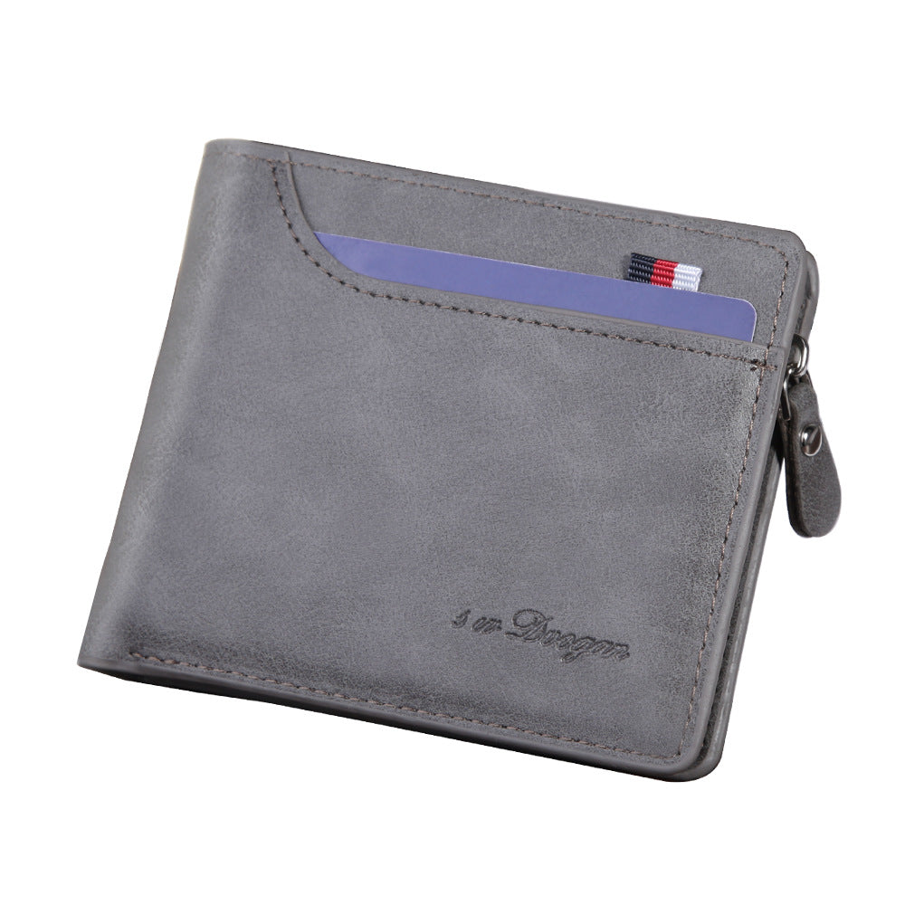 Multifunctional Zipper Wallet In Gray