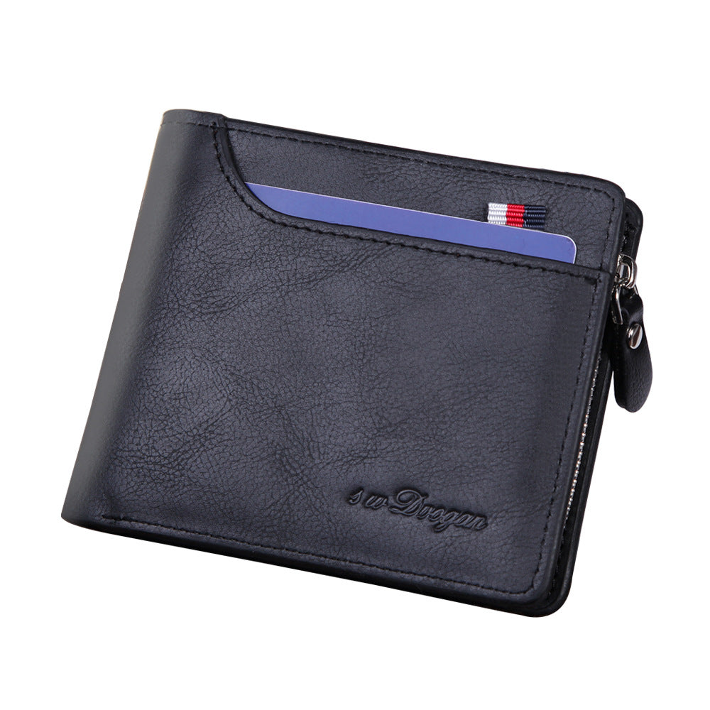 Multifunctional Zipper Wallet In Black