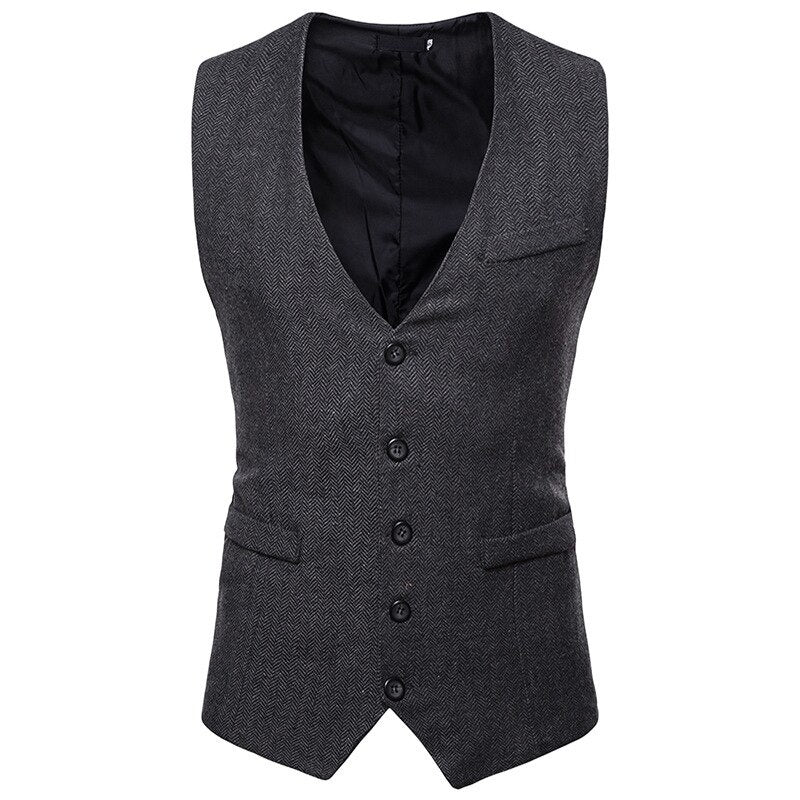 Business Slim Fit Vest In Black