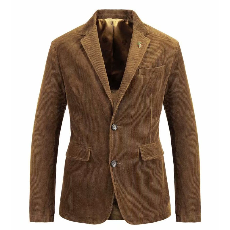 Casual Corduroy Blazer In Brown