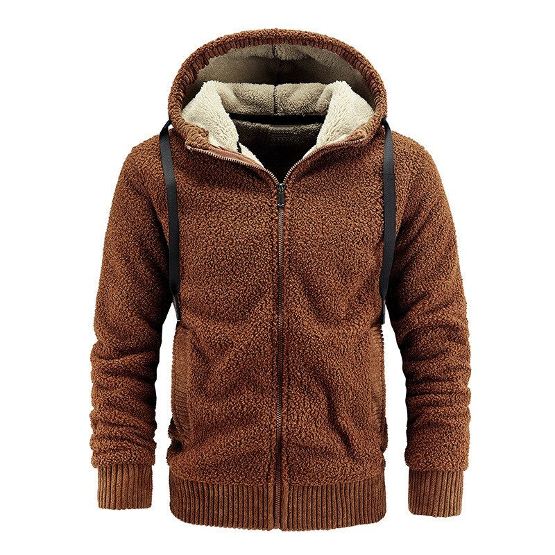 Warm Cashmere Hoodie In Brown