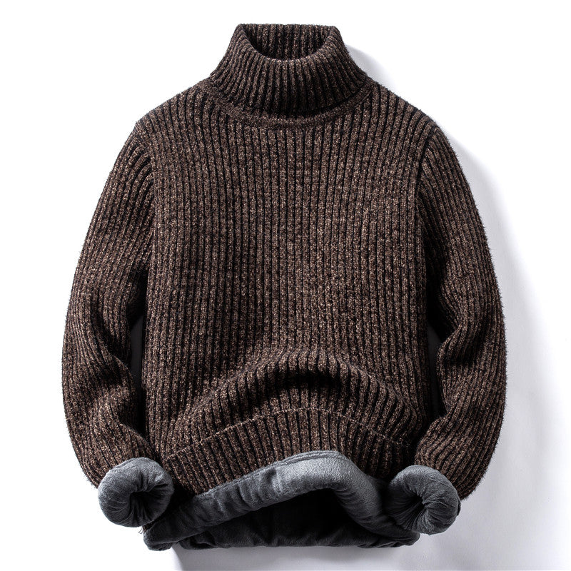 Vertical Stripes Sweater In Brown