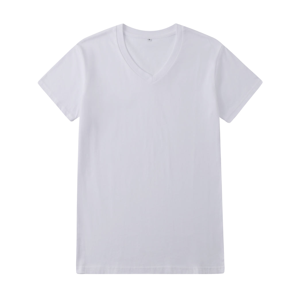 Casual V-Neck T-Shirt In White