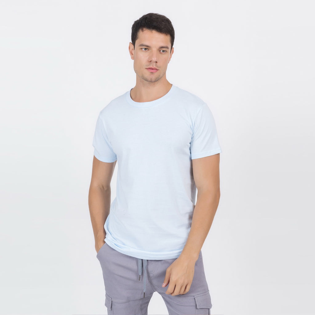 Casual T-Shirt In Light Blue