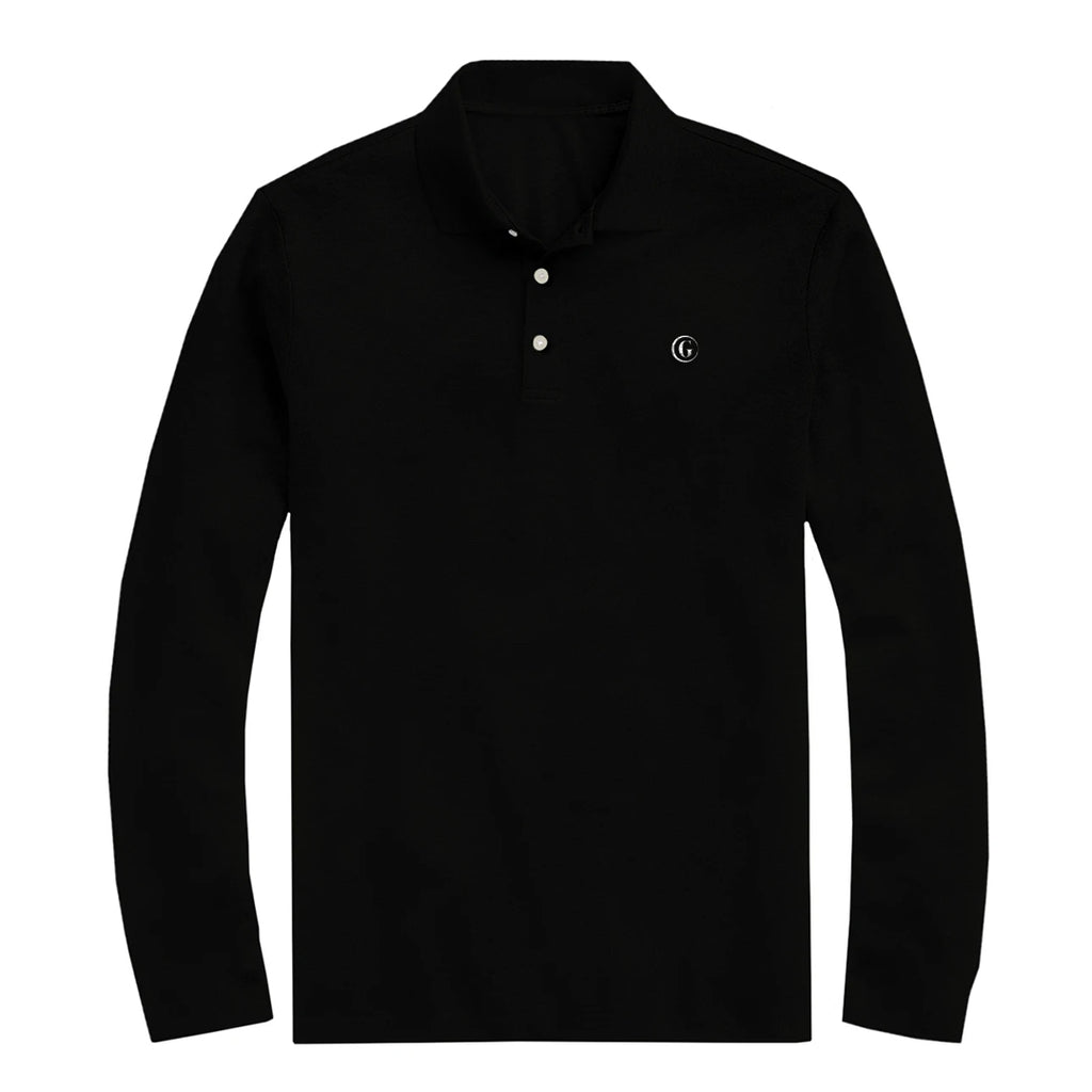 Gentoni Embroidered Logo Polo Shirt In Black