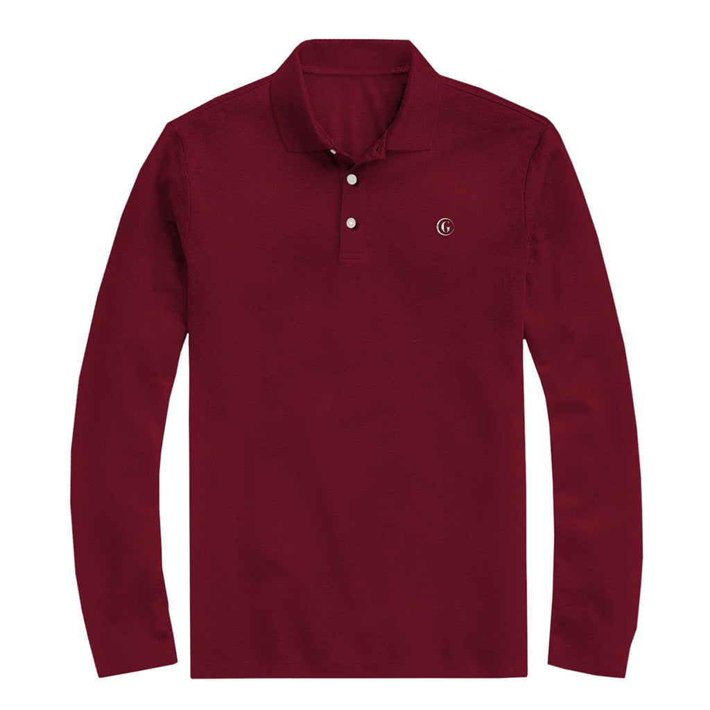 Gentoni Embroidered Logo Polo Shirt In Red