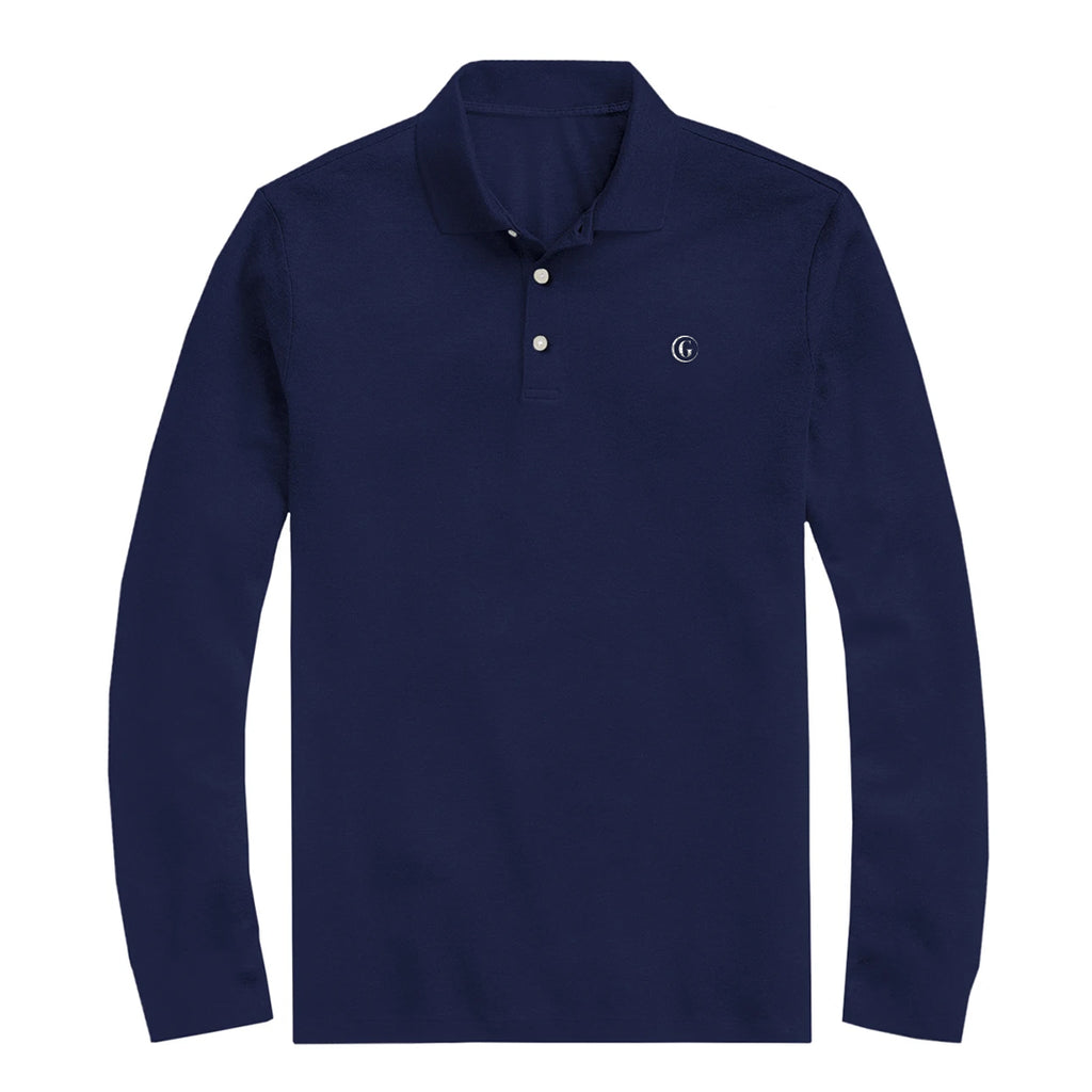 Gentoni Embroidered Logo Polo Shirt In Blue