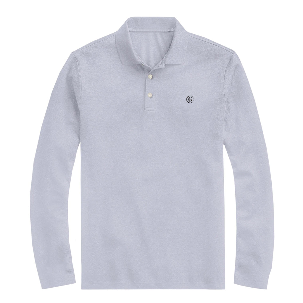 Gentoni Embroidered Logo Polo Shirt In Gray