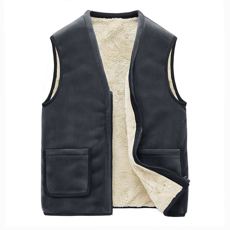 Sleeveless Velvet Vest In Gray
