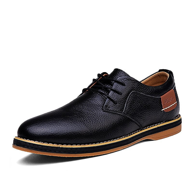 Elegant Leather Shoes In Black