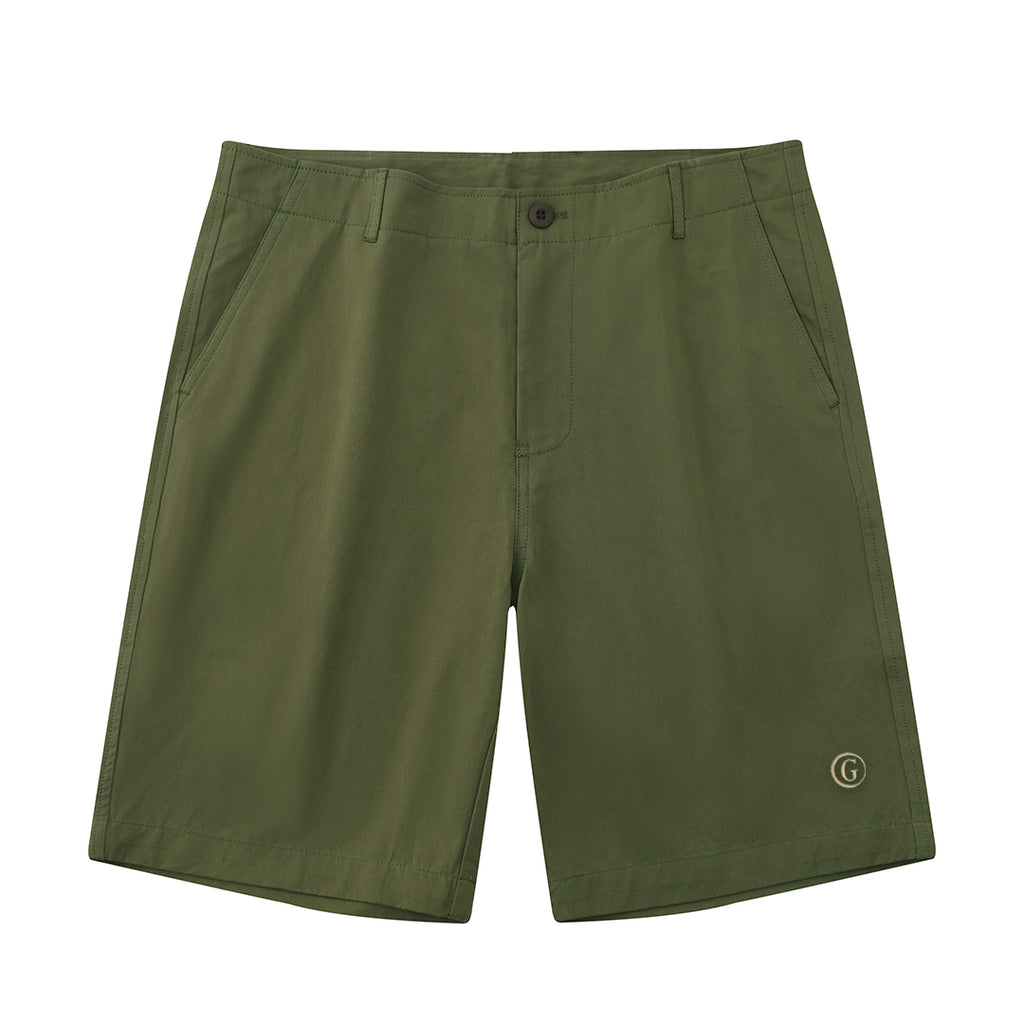 Gentoni Embroidered Shorts In Green