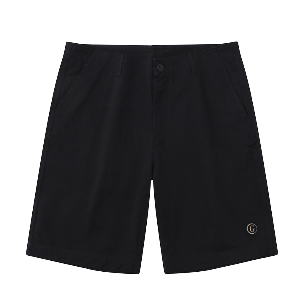 Gentoni Embroidered Shorts In Black