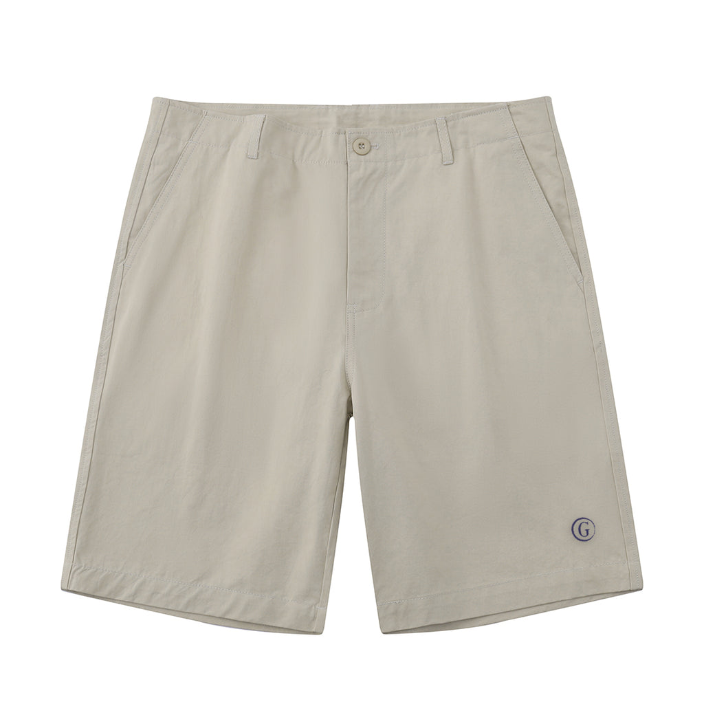 Gentoni Embroidered Shorts In Khaki