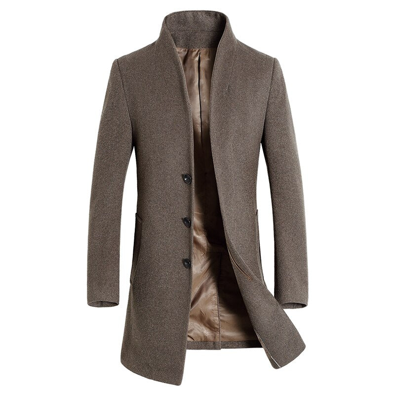 Official Businessman Coat In Khaki