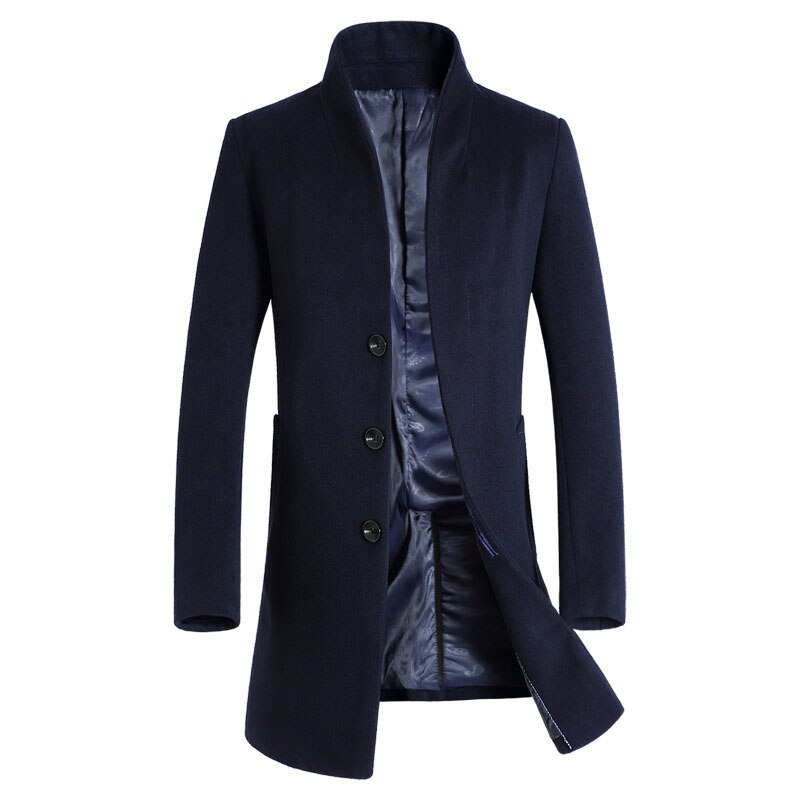 Official Businessman Coat In Navy Blue