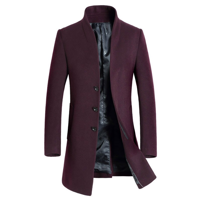 Official Businessman Coat In Wine Red