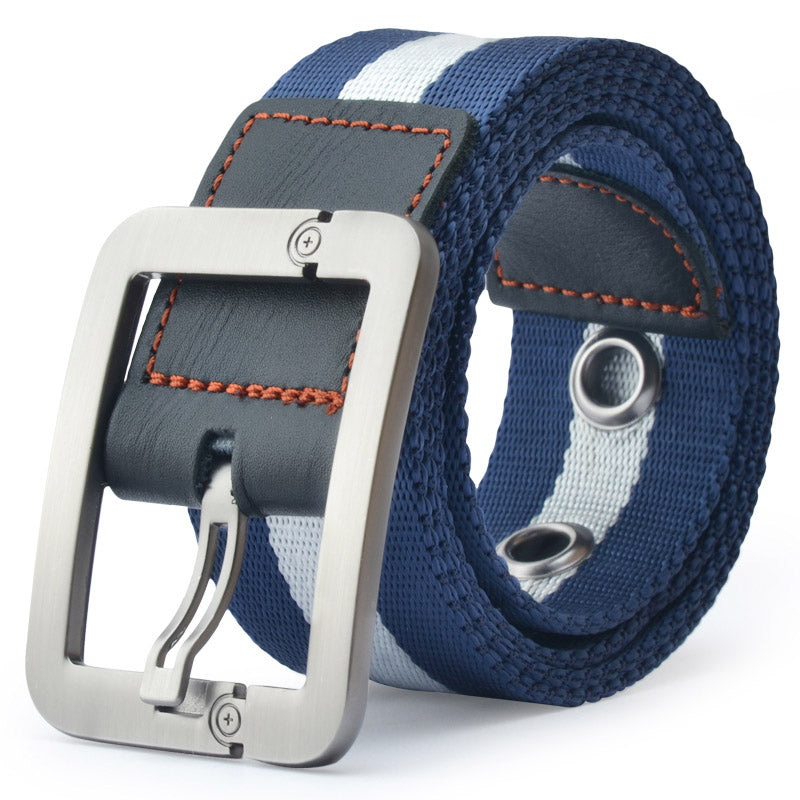 Striped Belt In Blue