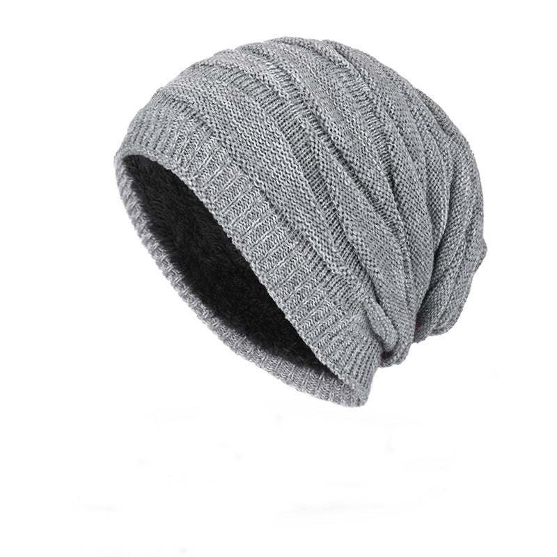 Ribbed Beanie In Gray