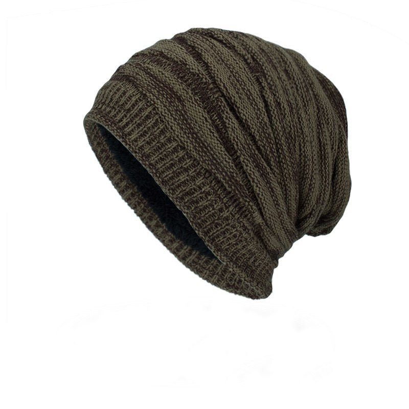 Ribbed Beanie In Khaki
