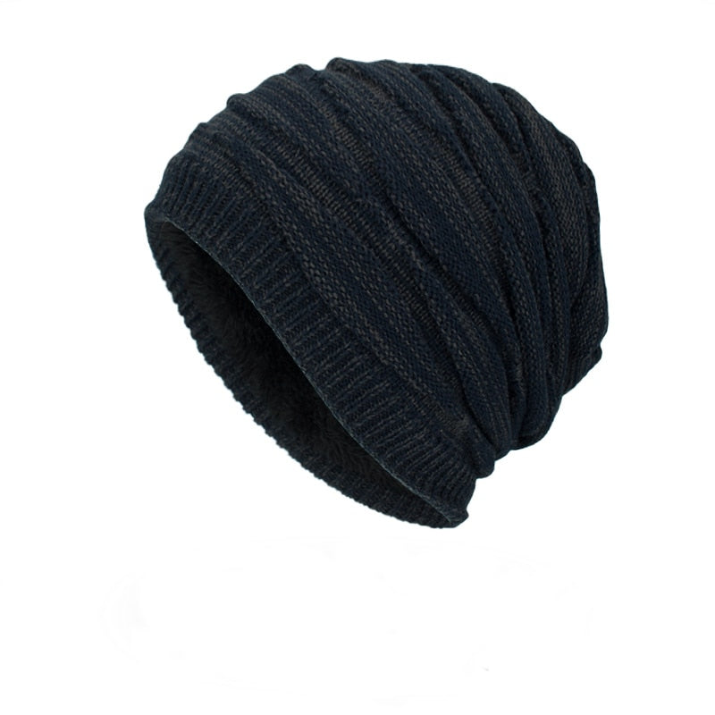 Ribbed Beanie In Navy