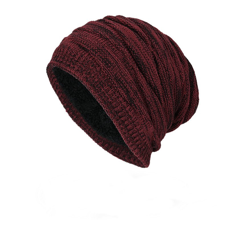 Ribbed Beanie In Burgundy