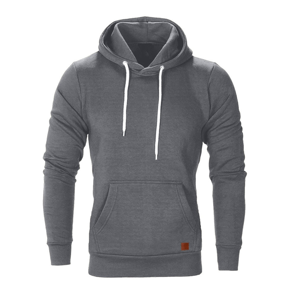 Casual Hoodie In Dark Gray