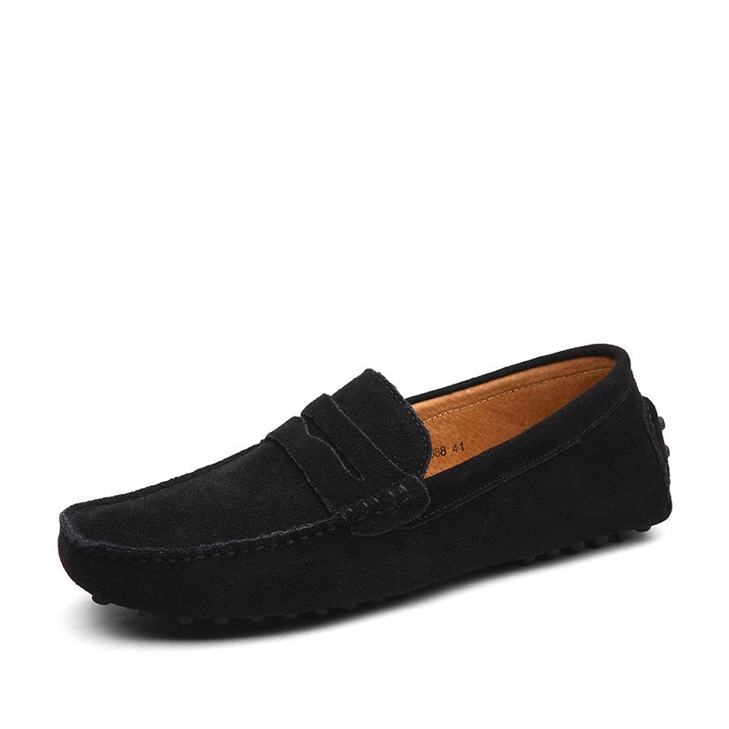 Simple Casual Loafers In Black