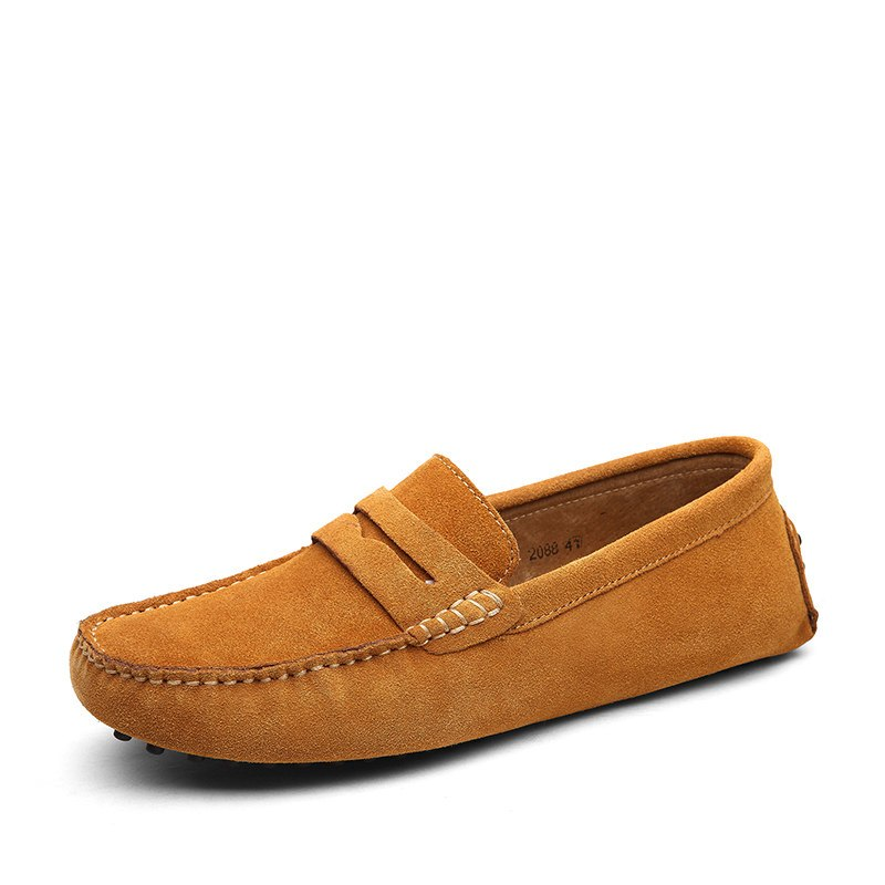 Simple Casual Loafers In Brown