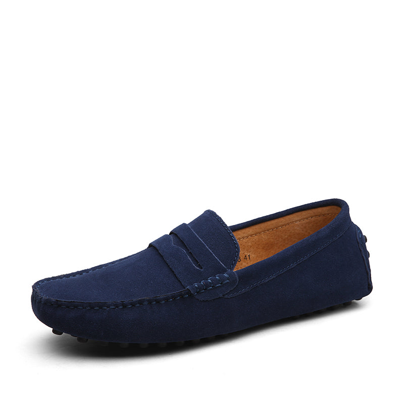 Simple Casual Loafers In Blue