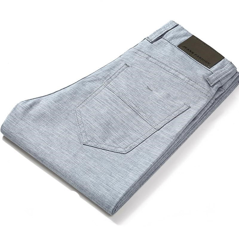 Linen Blend Pants In Light Blue