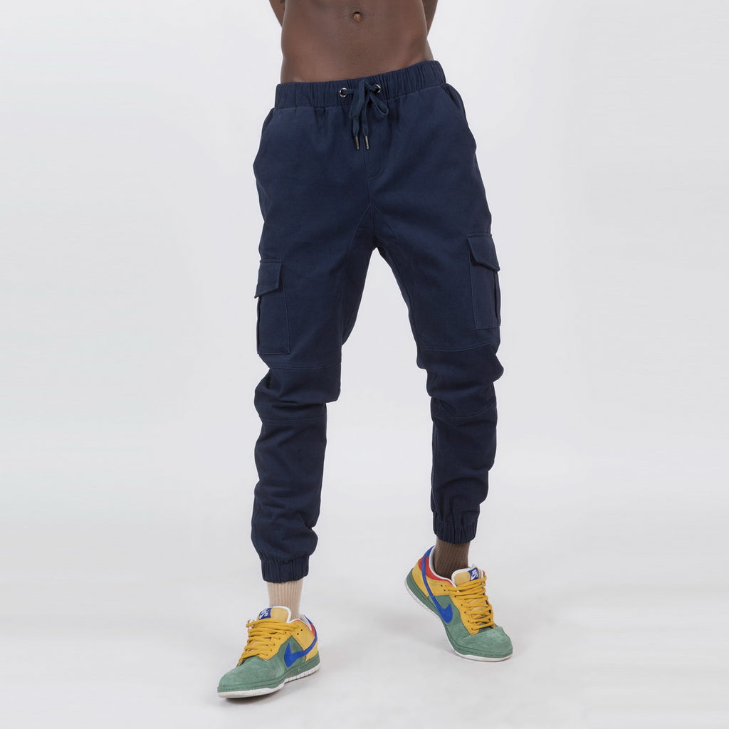 Casual Joggers In Navy Blue