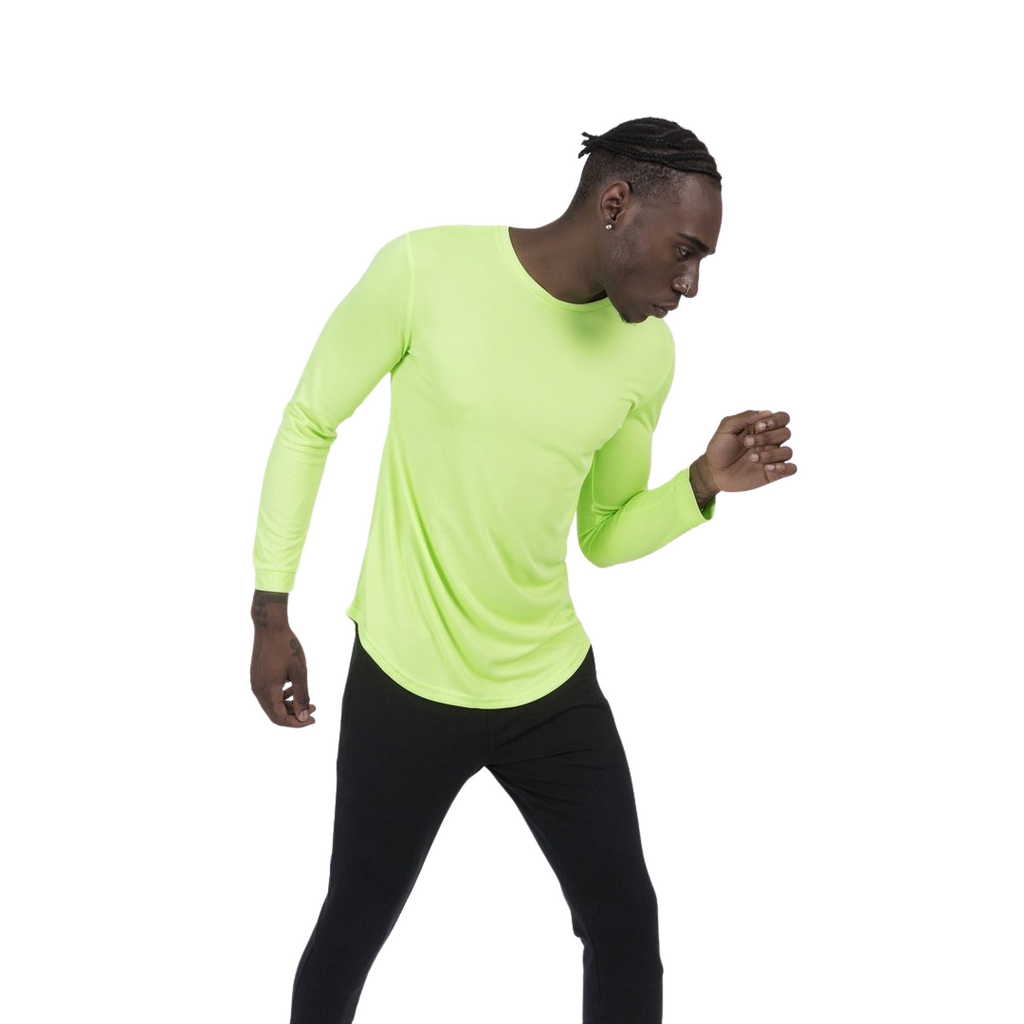 Basic Gym Long Sleeve T-Shirt In Neon Yellow