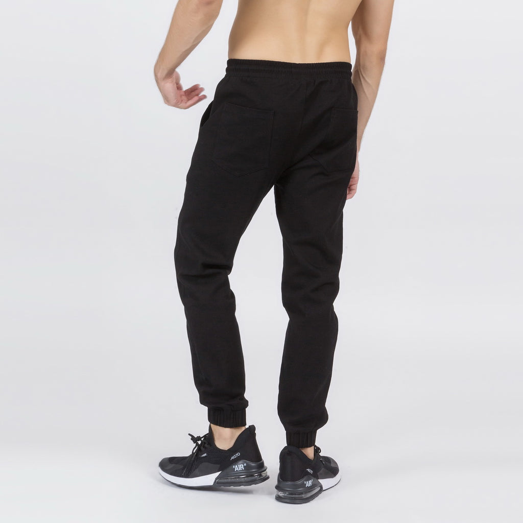 Comfortable Tapered Fit Joggers In Black