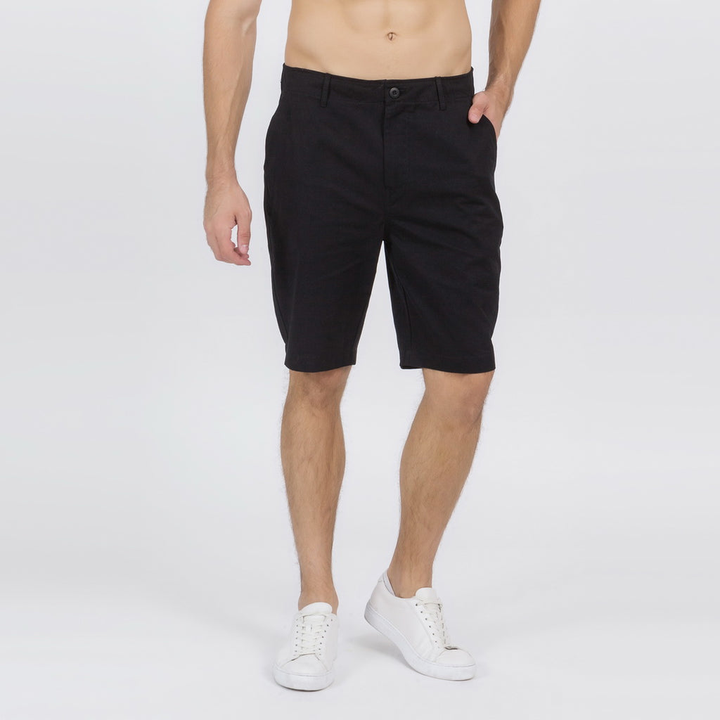 Casual Slim Chino Shorts In Black