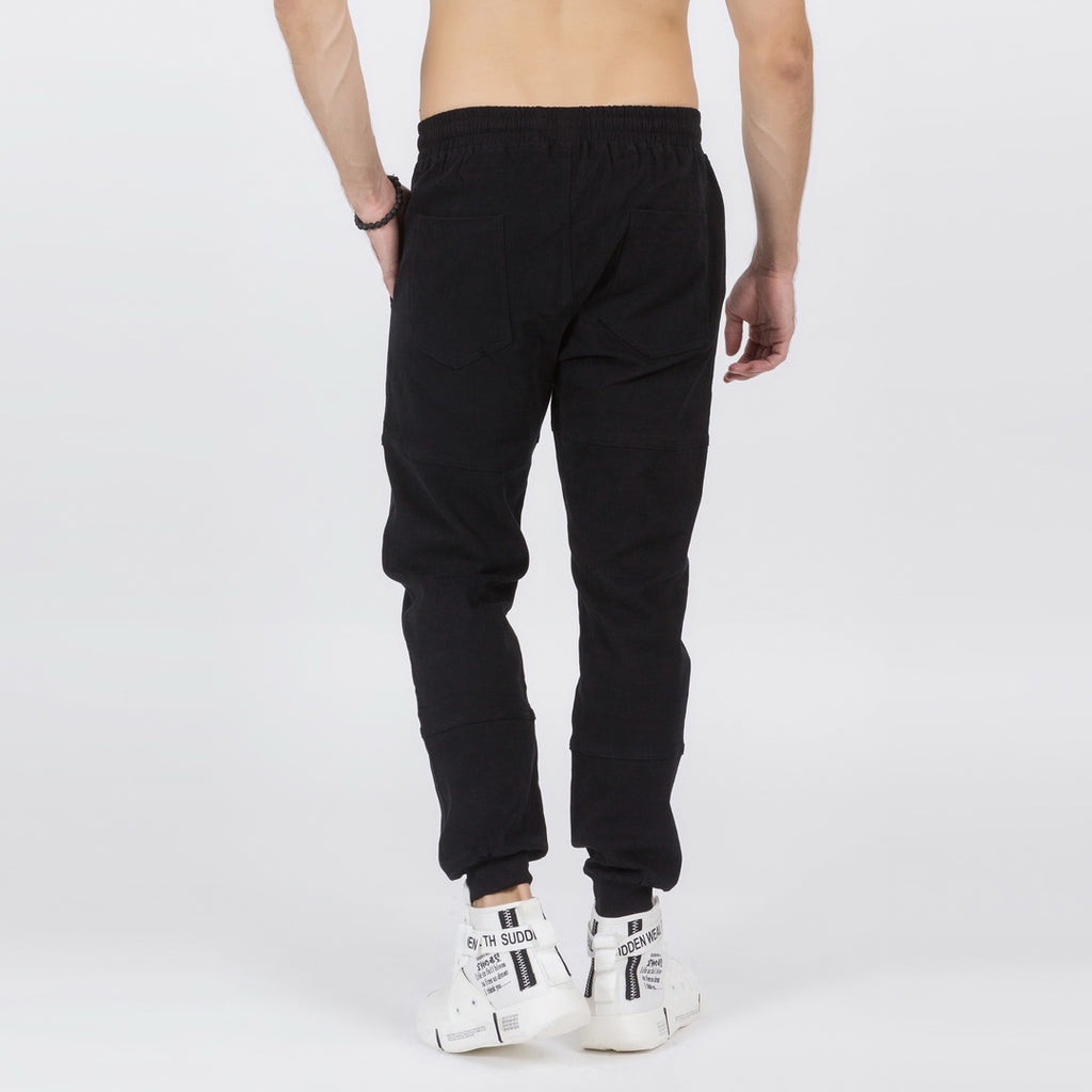 Ankle Length Harem Pants In Black