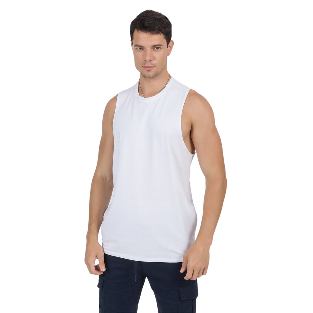 Basic Gym Tank Top In White