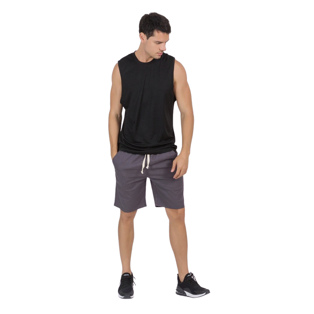 Basic Gym Sleeveless T-Shirt In Black