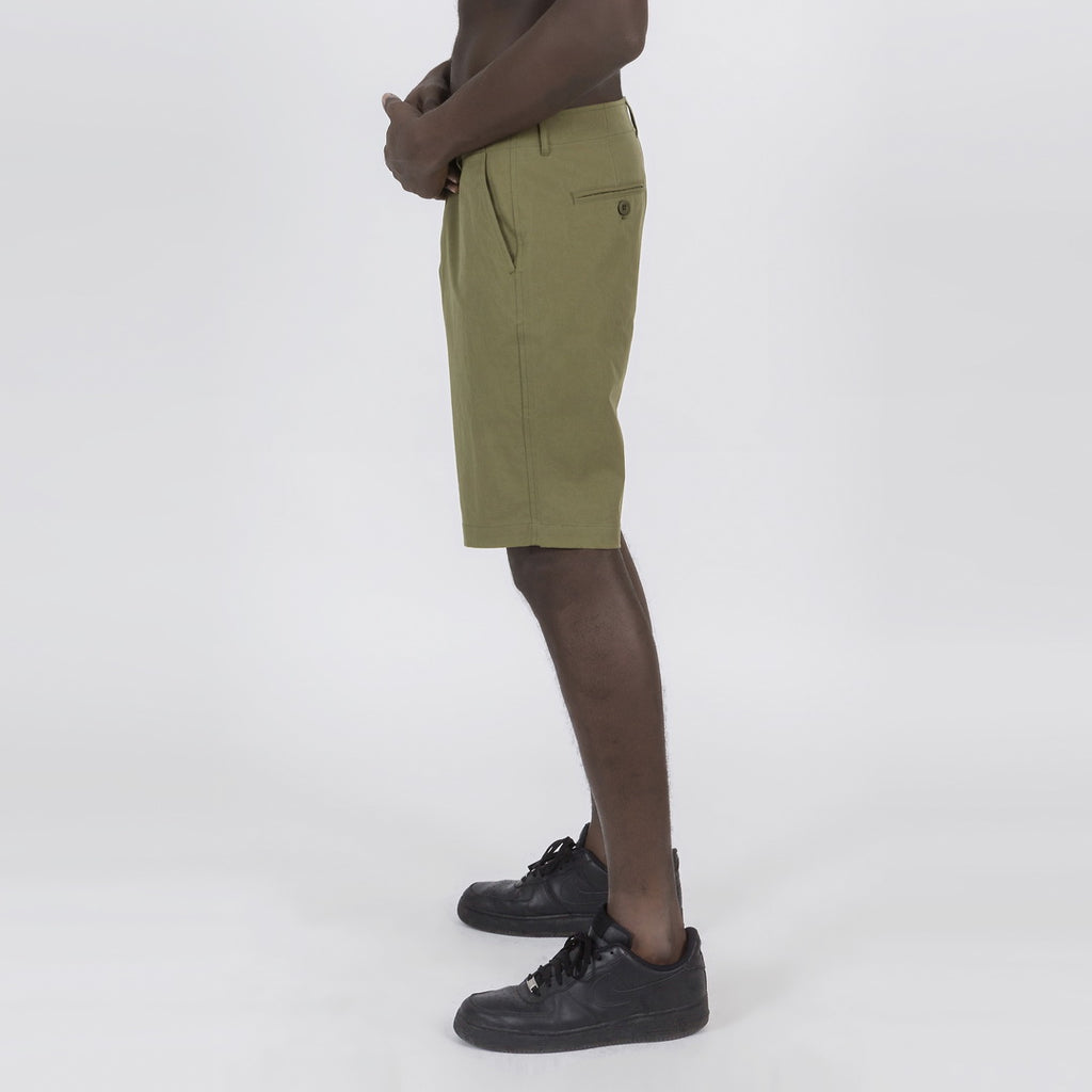 Casual Slim Chino Shorts In Green