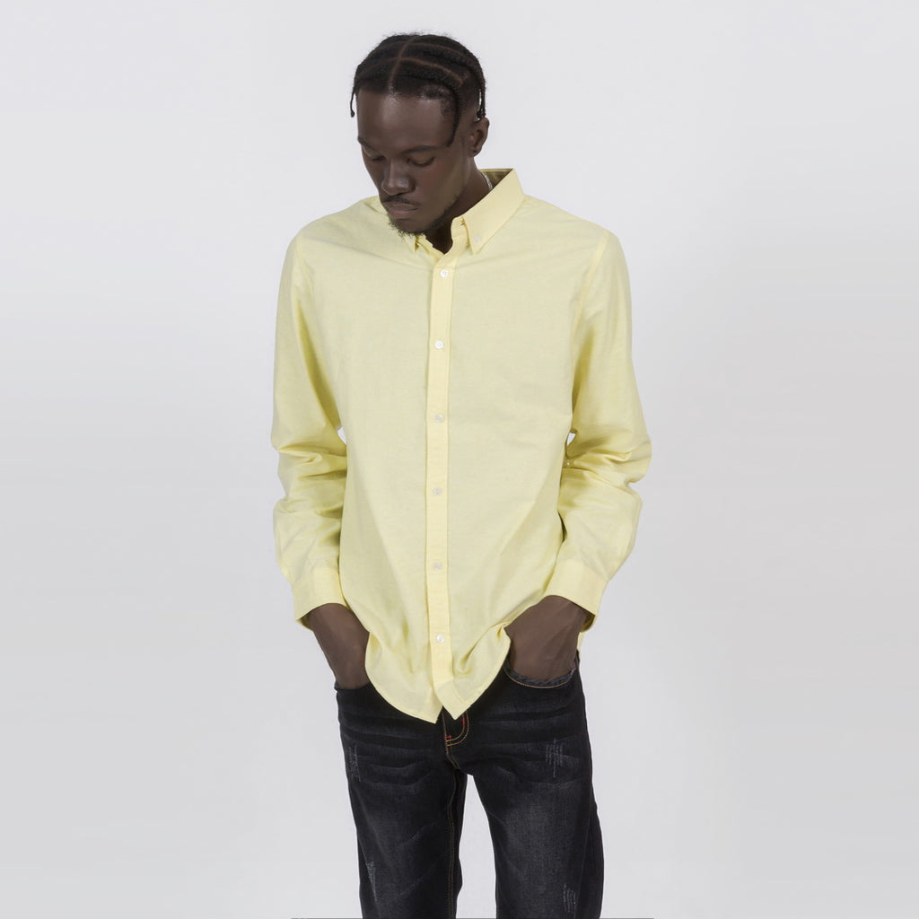 Simple Button Shirt In Yellow