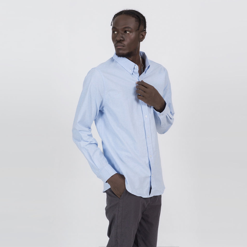 Simple Button Shirt In Light Blue