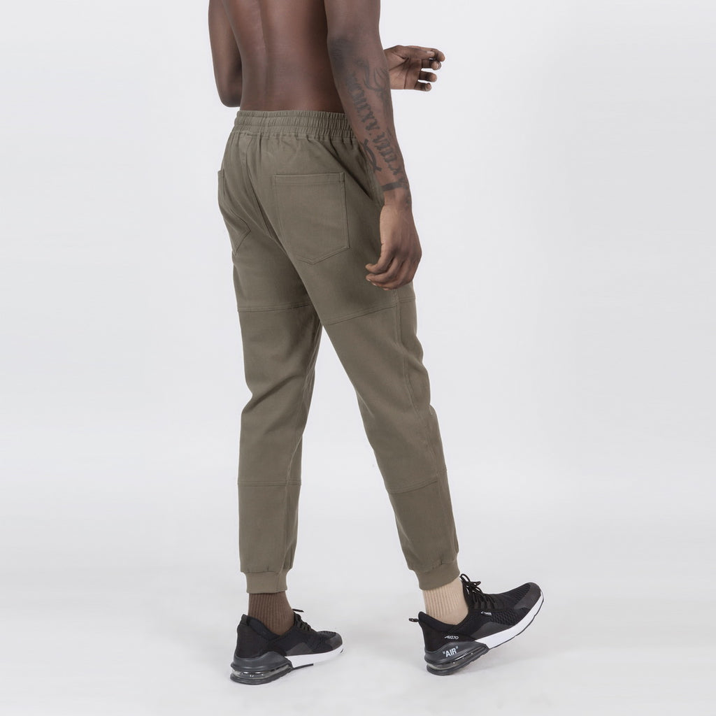 Ankle Length Harem Pants In Army Green