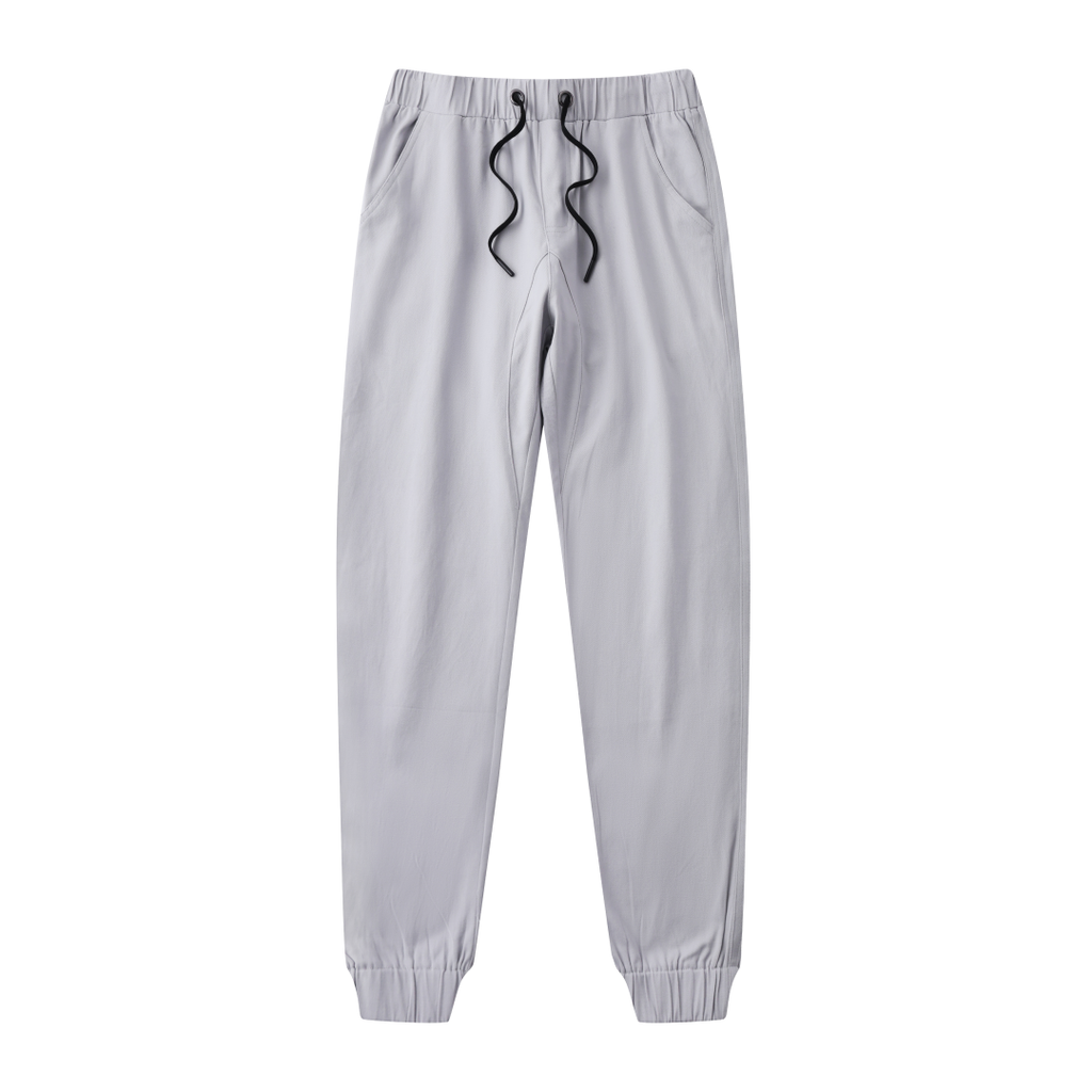 Casual Slouchy Fitted Joggers In Gray