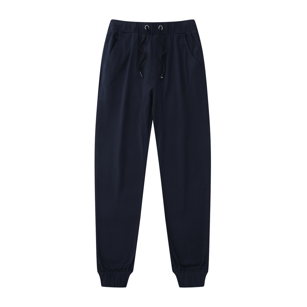 Casual Slouchy Fitted Joggers In Blue