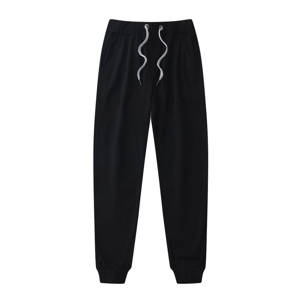 Casual Slouchy Fitted Joggers In Black