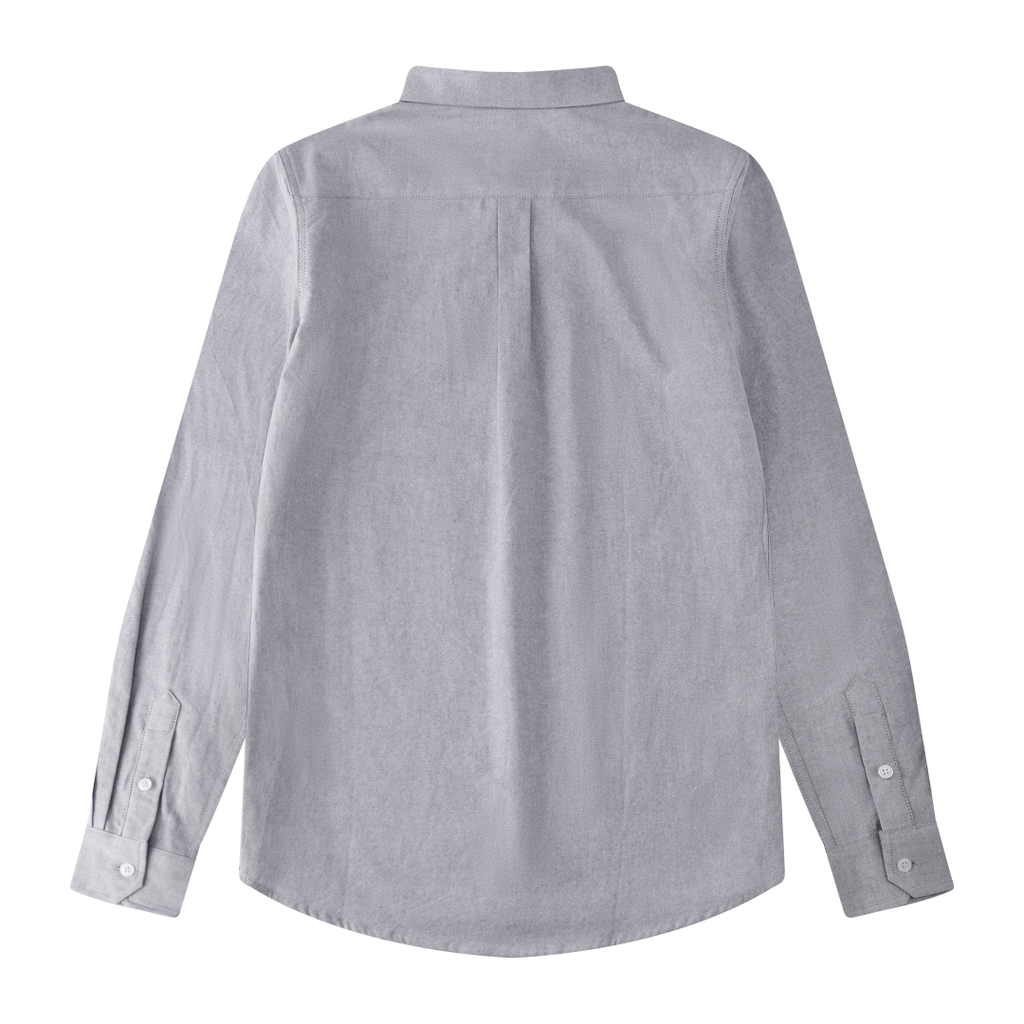 Simple Button Shirt In Gray
