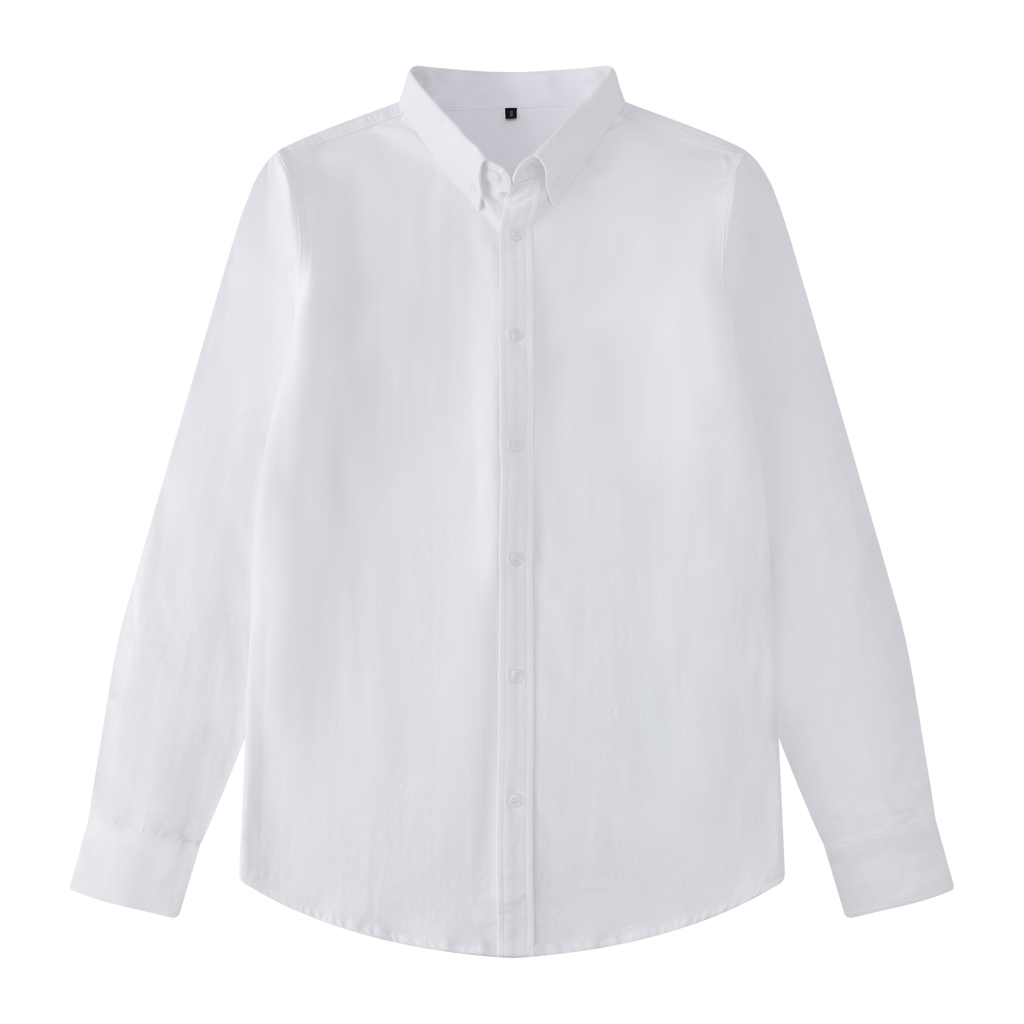 Simple Button Shirt In White